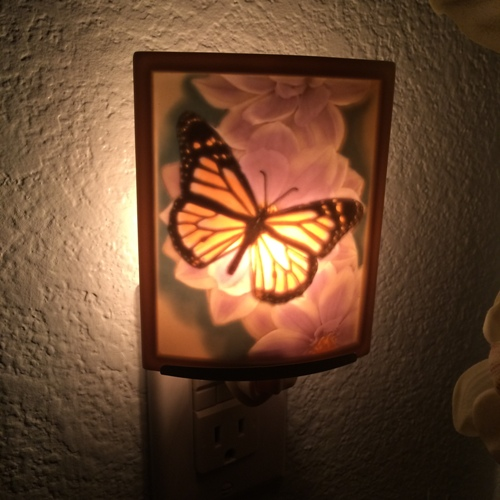 butterfly ceramic nightlight