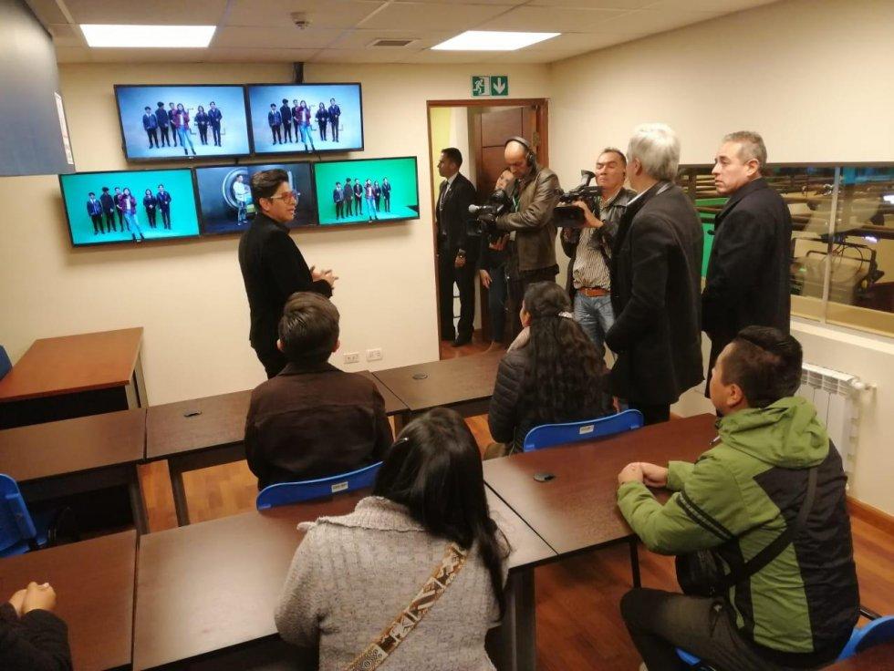 Garcia Linera inauguró el laboratorio 360 el pasado septiembre / VICEPRESIDENCIA