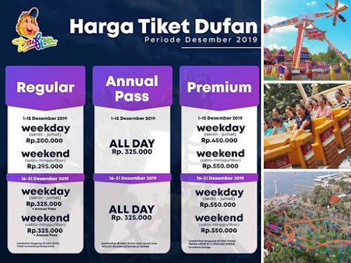 Harga tiket dan promo Dufan bulan Desember 2019