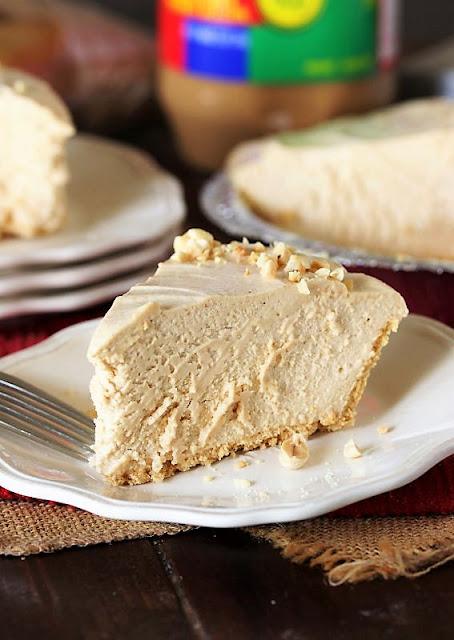 Piece of No-Bake Peanut Butter Pie Image