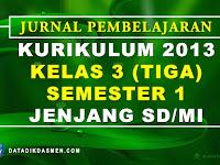 Jurnal Pembelajaran Tematik Kelas 3 Semester 1 SD/MI Kurikulum 2013 Tahun Pelajaran 2020 - 2021