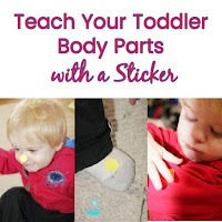 Teach Toddlers Body Parts with a Sticker Post
