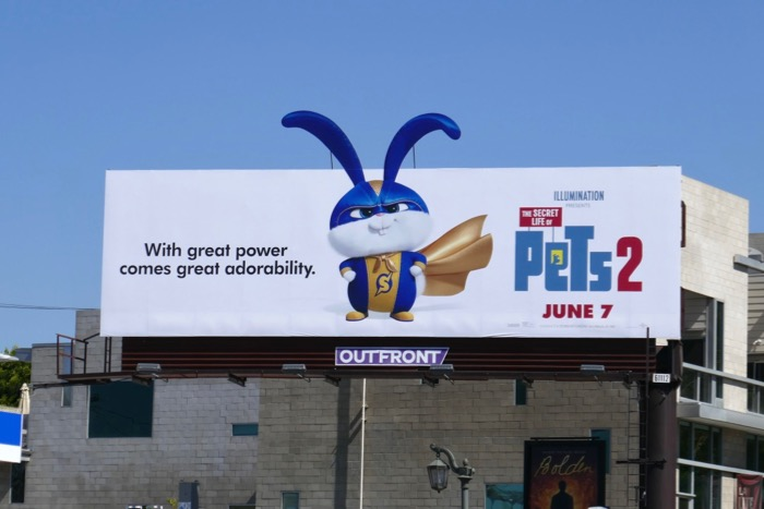 Secret Life Pets 2 super bunny billboard