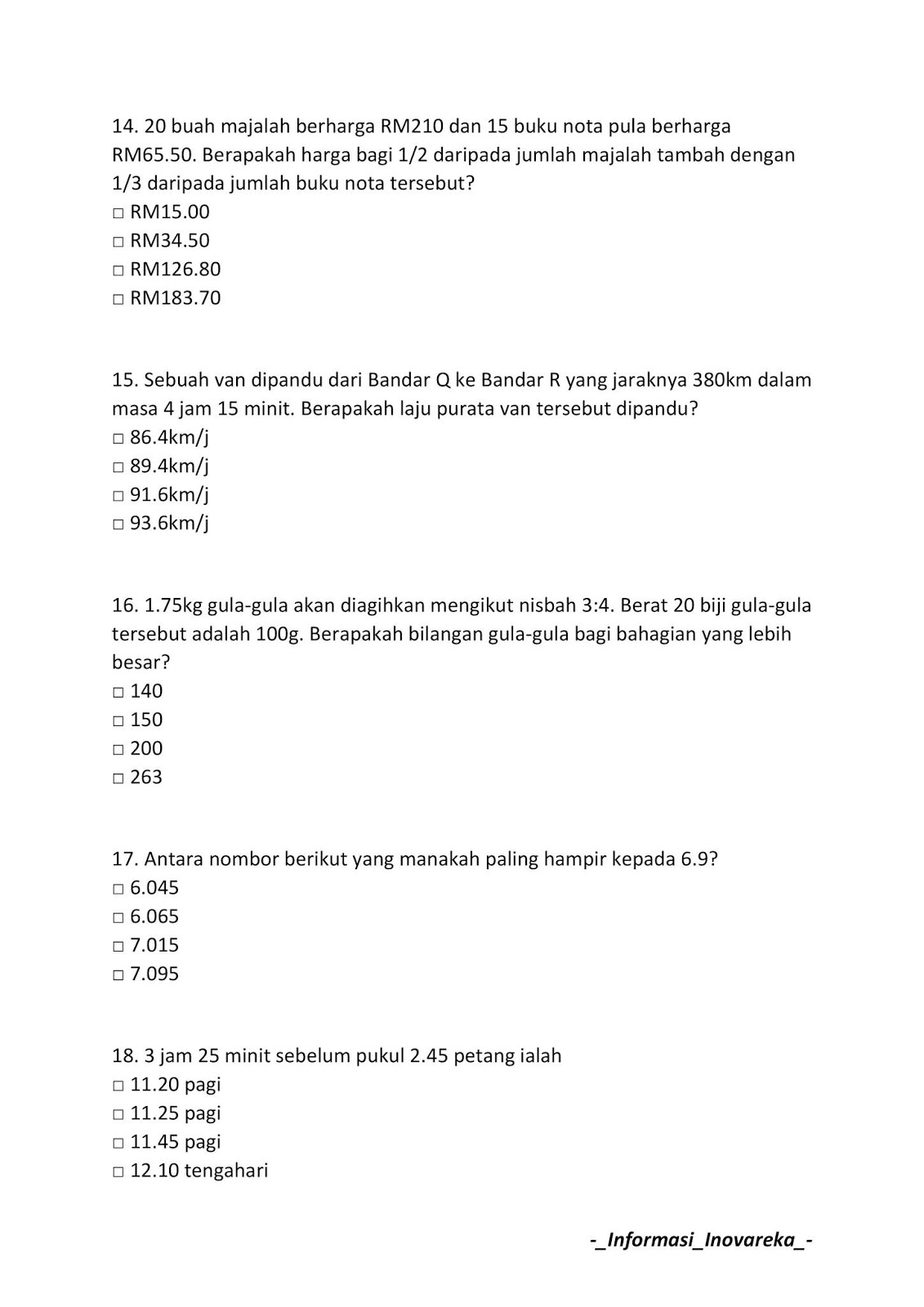 Contoh Soalan Peperiksaan Spa Pembantu Operasi N11 2019