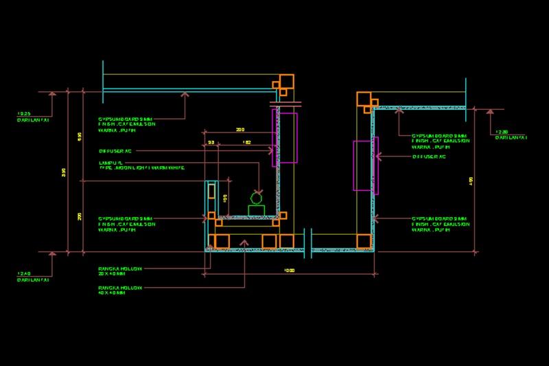 Detail Plafond File Dwg Kaula Ngora Download Kumpulan