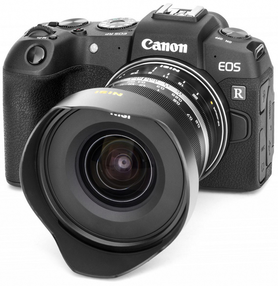 Объектив NiSi с камерой Canon