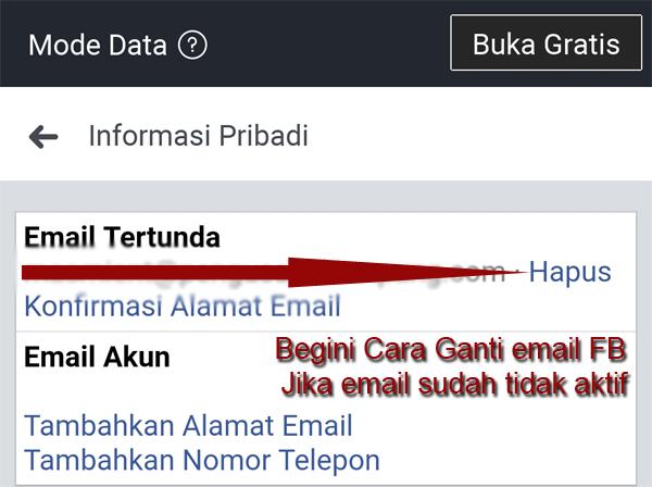 Cara Mengganti Email Facebook dengan Mudah [Work]