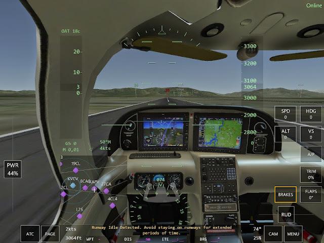 Avoid staying on runway Jeu simulation pilotage Infinite Flight