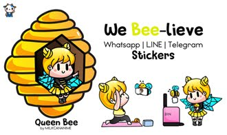 Queen BEE 'WE BEE-LIEVE' Stickers