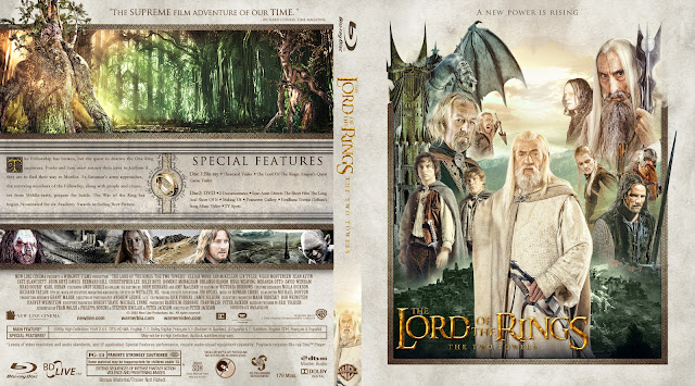 The Lord of the Rings: The Two Towers Bluray Cover