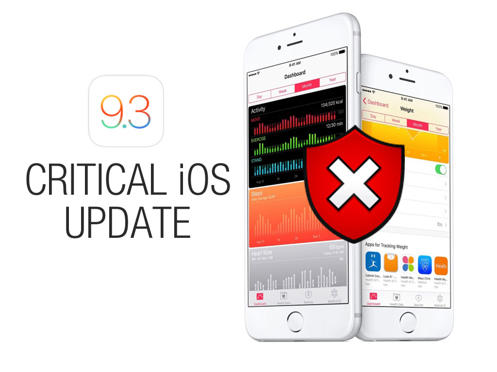 Apple releases critical iOS 9.3.5 Update for a known iPhone vulnerability