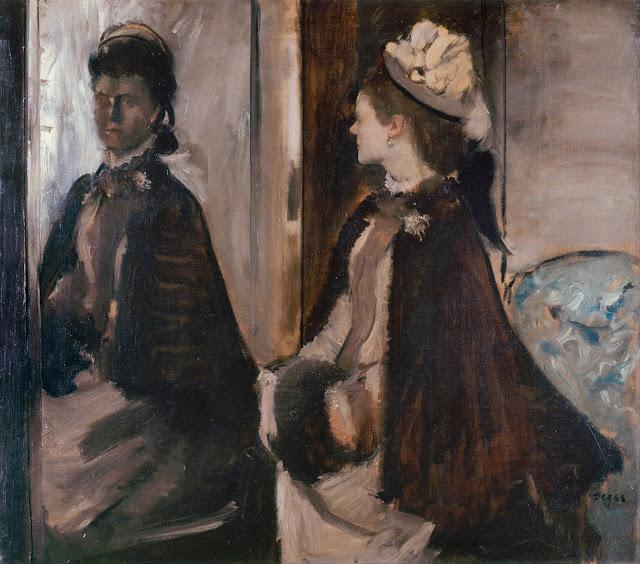 Эдгар Дега - Мадам Jeantaud перед зеркалом (ок.1875)