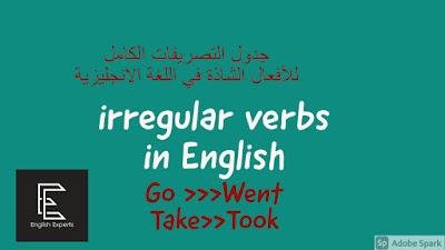 الأفعال الشاذة في اللغة الإنجليزية