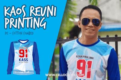 Bikin Kaos Reuni Printing Full Color Raglan Kombinasi PE Cotton Combed