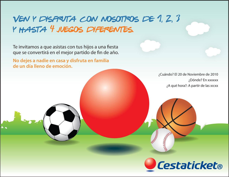 Invitación Animada Evento Deportivo Cestaticket Mirian