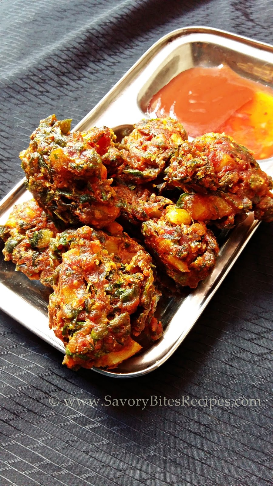 Methi Aloo Pakoda Snacks Vegetarian