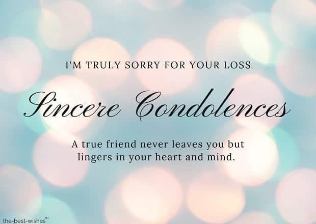 condolence message to a friend