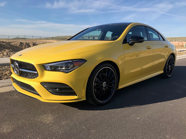 Front 3/4 view of 2020 Mercedes-Benz CLA250 4MATIC