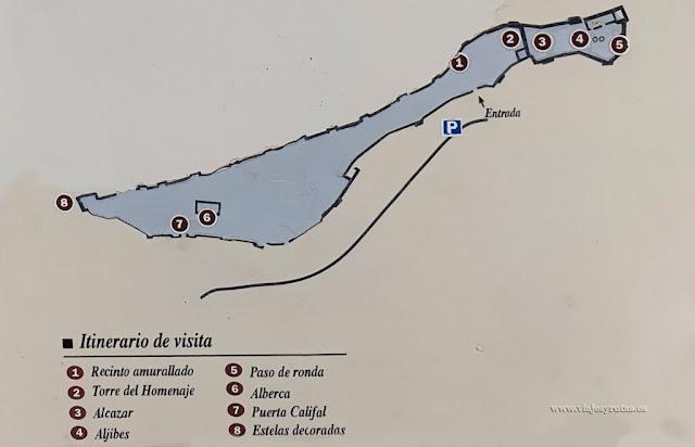 Plano del Castillo de Gormaz, Soria