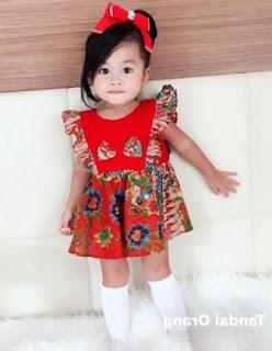 Model baju batik anak usia 3 tahun