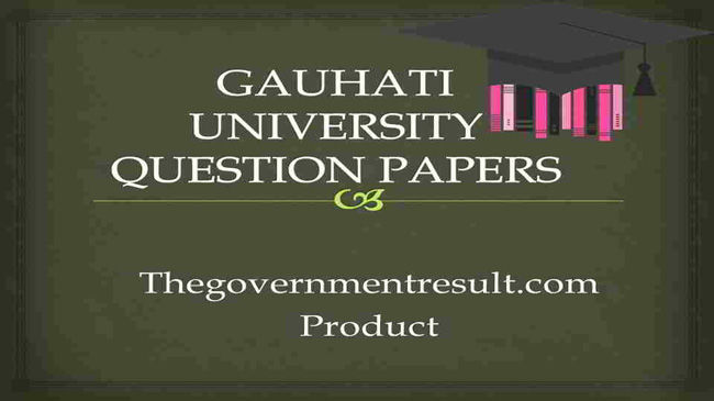 Gauhati University M.A English entrance exam question papers