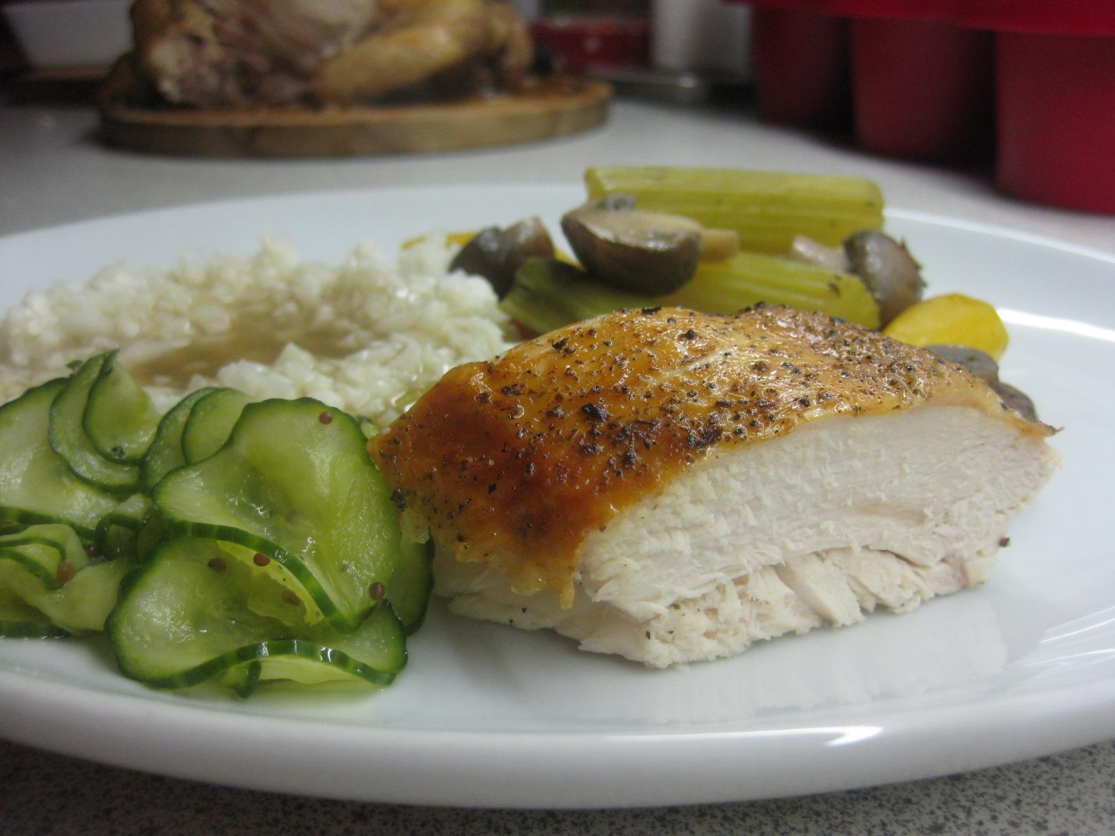 kylling og ris