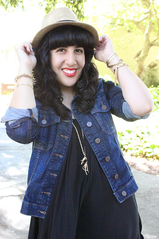 BDG Summer Fedora and Little Black Dress