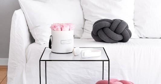 knot kissen by lassen twin tisch neue wohnzimmer deko nicest things food interior diy. Black Bedroom Furniture Sets. Home Design Ideas