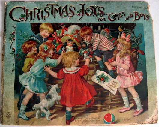 Christmas Joys for Girls and Boys , Ernest Nister Book with Illustrations from Rosa C. Petherick