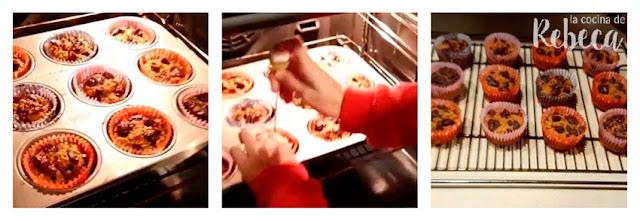 Receta de magdalenas de calabaza con chocolate: el horneado