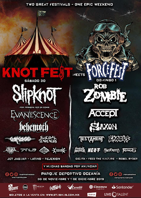KnotFest Meets ForceFest, cartel