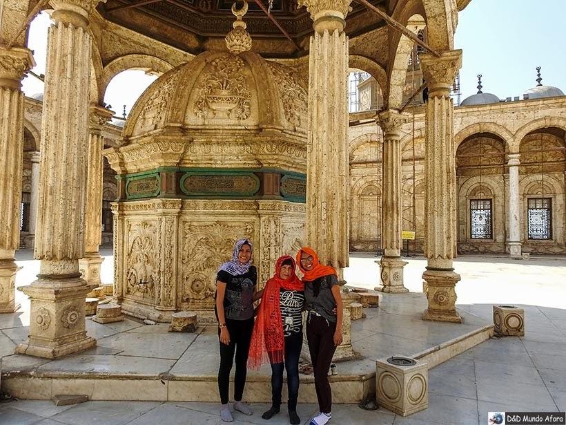 Fonte das abluções na Mesquita de Mohamed Ali na Cidadela de Saladino, no Cairo