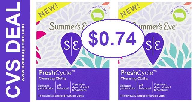 CVS Deal on Summer's Eve Cleansing Cloths