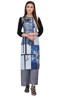 Allesia Digital Print Crepe Kurti by FashionDiya Rs. 429