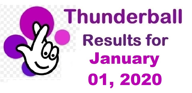 Thunderball Results for Wednesday, January 01, 2020