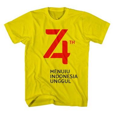Desain Kaos Agustusan Simple Kuning