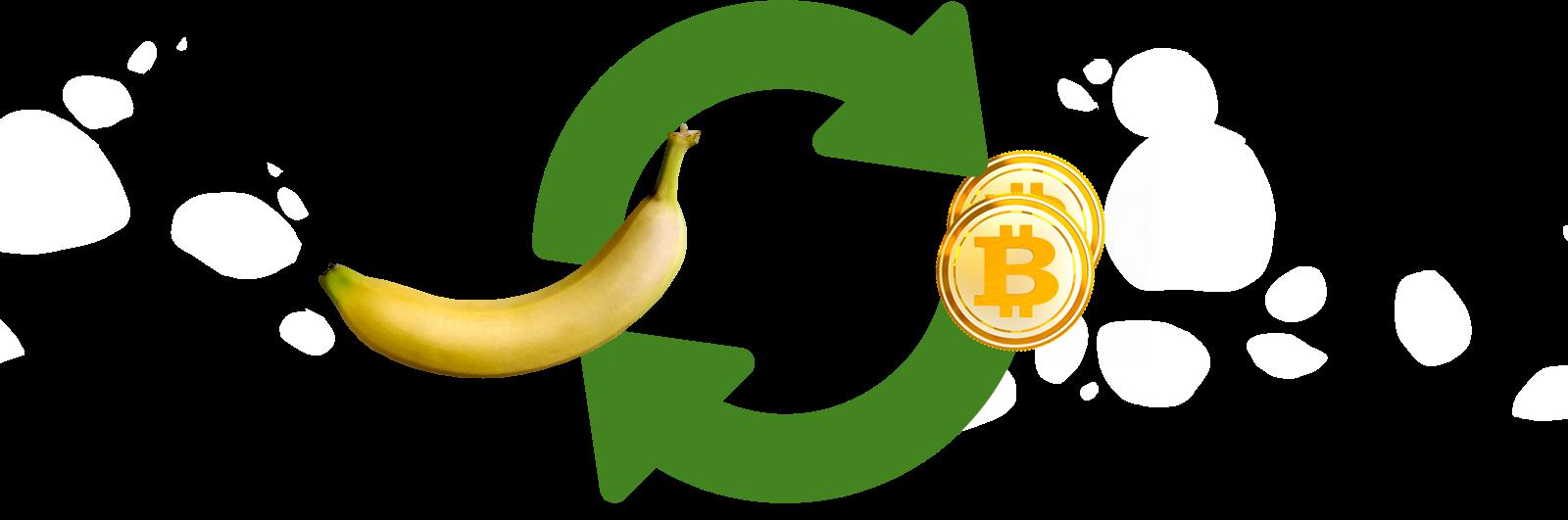 1 banana = 2 monedas