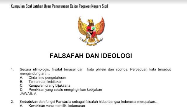 soal cpns falsafah dan ideologi