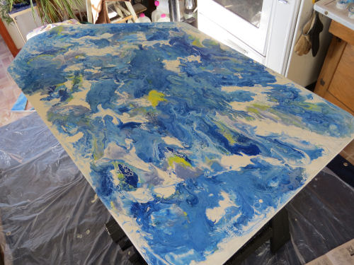 acrylic pour table top