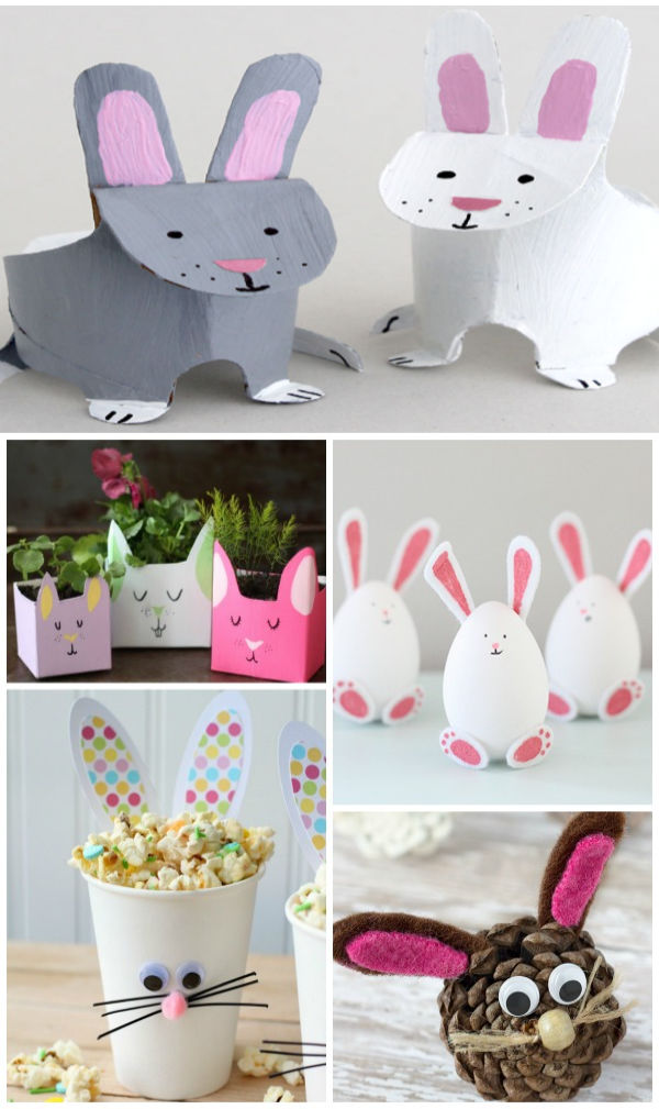 30+ Easter bunny crafts for kids to make this spring. #eastercrafts #easterbunnycrafts #bunnycraftsforkids #preschooleastercrafts #growingajeweledrose