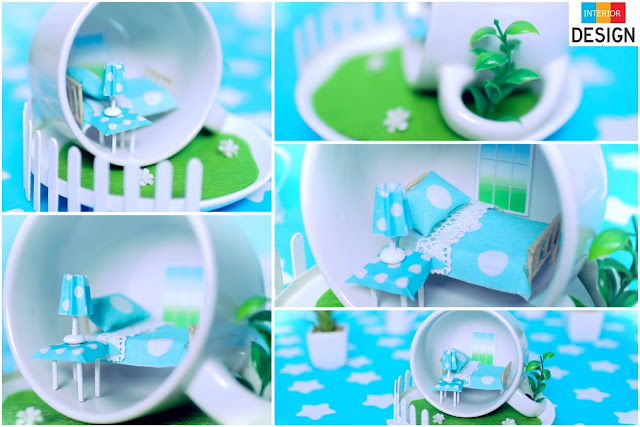 DIY Miniature Bedroom In A Cup
