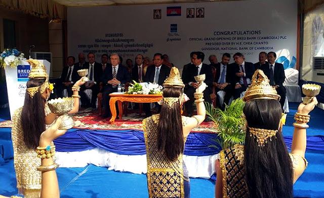 Inauguration des locaux de la BRED à Phnom Penh ce matin