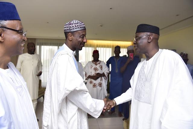 Pastor Tunde Bakare Visits Deposed Emir Sanusi in Lagos (Photos)
