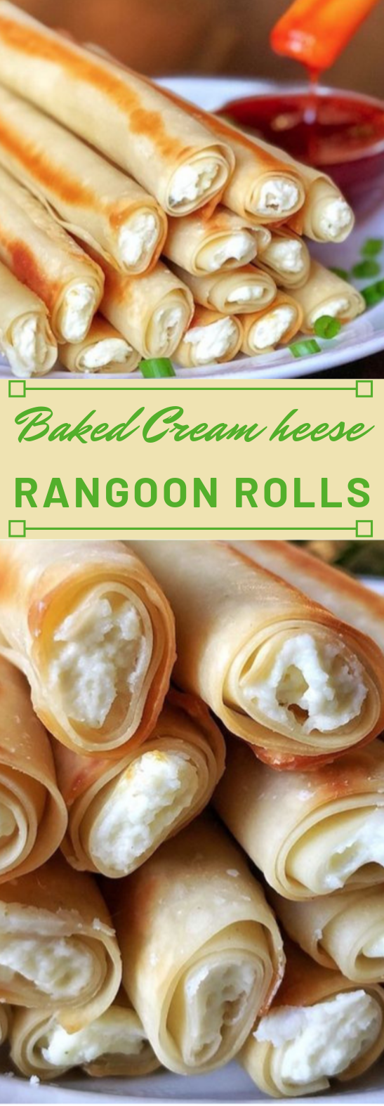 Baked Cream Cheese Rangoon Rolls #diet #healthy #rangoon #healthydiet #lowcarb