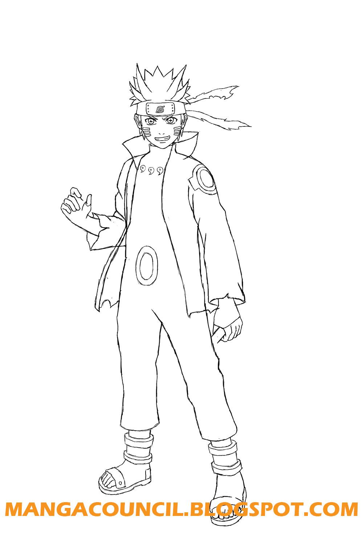 How to draw naruto six paths sage mode manga council