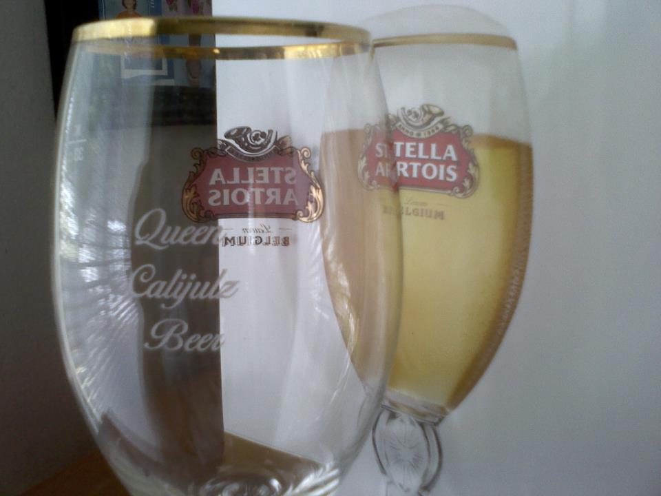 Free engraved stella artois chalice