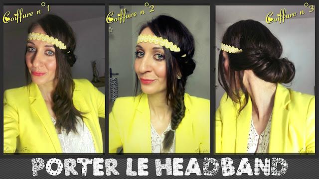 1 headband - 3 coiffures