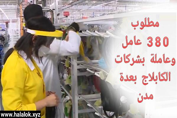 """مطلوب توظيف 380 عامل وعاملة """"كابلاج"""" بعدة مدن سارع بالتسجيل"""