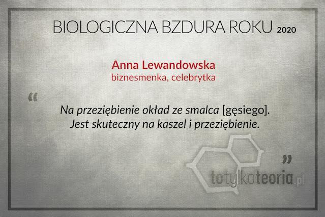 Anna Lewandowska Biologiczna Bzdura Roku