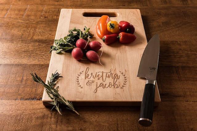 Engraved Wood Cutting Board or Wedding Charcuterie Board